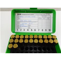 SELLIER & BELLOT 338 LAPUA MAG AMMO, IN CASE-GARD AMMO BOX