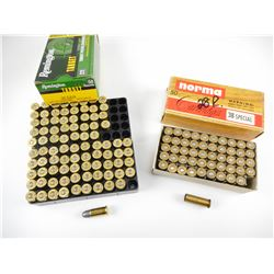 38 SPECIAL AND 38 S&W ASSORTED AMMO
