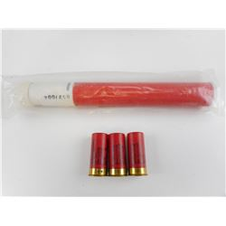 MAGNESIUM FLARE, RED FIRE, STARTER, GERMAN MILITARY, RED METEOR MARINE FLARES