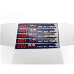 CCI SMALL RIFLE PRIMERS, MAGNUM, NO 450