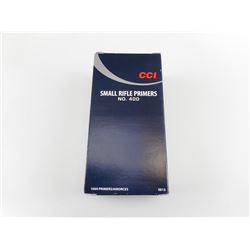 CCI SMALL RIFLE PRIMERS, MAGNUM, NO 400