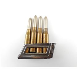 8 X 60MM AMMO, ON STRIPPER CLIP, DATED 35