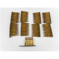 5.56MM AMMO, ON STRIPPER CLIPS, GRN TIP