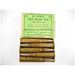 .303 BRITISH AP ROUNDS, FMJ