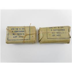 MILITARY SURPLUS 8MM LEBEL FRENCH AMMO, IN ORIGINAL ROUND BATTLE PACK