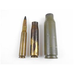 WWII AND MODERN LARGE CALIBER AMMO, BRASS