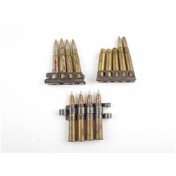 .303 BRITISH MILITARY AMMO, STRIPPER CLIPS, MACHINE GUN LINKS