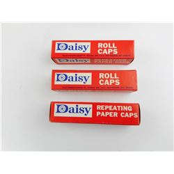 DAISY ROLL CAPS, 3 FULL BOXES, ORIGINAL BOXES, COLLECTIBLE