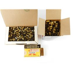.45, 32 REM, 9MM ASSORTED BRASS CASES