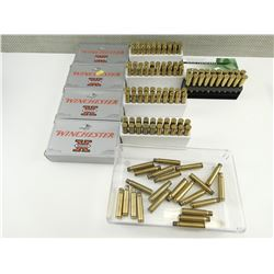 BRASS CASES ASSORTED, INCLUDING 8MM MAUSER, & 303 BRITISH