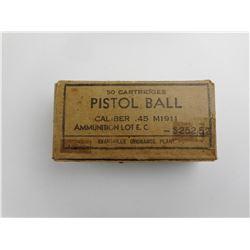 WWII U.S. MILITARY M1911 .45 ACP BRASS CASES