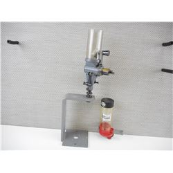 LYMAN NO. 55 POWDER MEASURE WITH STAND, HORNADY RELOADING PRESS ATTACHMENT