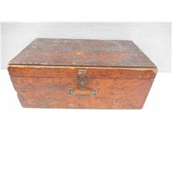 WOODEN CRATE, HINGED LID