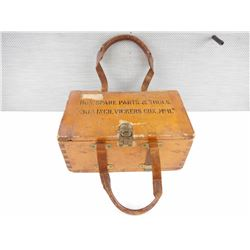 WOODEN CRATE, MARKED BOX, SPARE PARTS, & TOOLS, 303 IN VICKERS GUN MKII