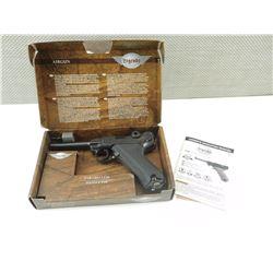 LEGENDS PARABELLUM PISTOL P.08 AIRGUN IN BOX WITH MANUAL