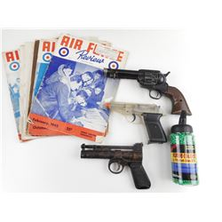 ASSORTED PELLET GUNS AND ACCESSORIES