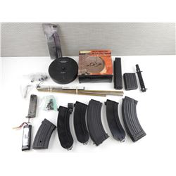 ASSORTED AIR SOFT ACCESSORIES
