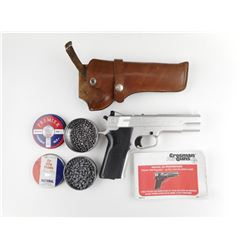 CROSMAN .177 CAL 1008 REPEATER AIR PISTOL WITH HOLSTER AND PELLETS