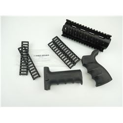 ASSORTED AR-15 M-4 RAIL AND RIP PARTS
