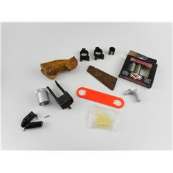 ASSORTED PISTOL TOOLS AND PARTS