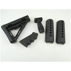ASSORTED AR-15 M4 STOCK PARTS