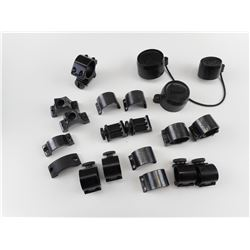 ASSORTED WEAVER SCOPE RINGS AND LENS CAP