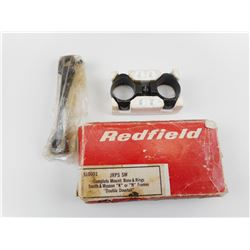 VINTAGE REDFIELD COMPLETE MOUNT BASE & RINGS FOR SMITH & WESSON K OR N FRAME