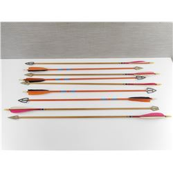 ASSORTED WOODEN ARROWS WITH BROAD HEADS