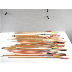 ASSORTED PAINTED WOODEN ARROWS