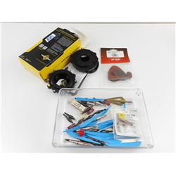 ASSORTED ARCHERY ARROW ACCESSORIES AND SMARTPHONE OPITCS ADAPTER