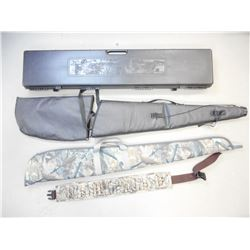 ASSORTED SOFT AND HARD RIFLE CASES AND AMMO BELT