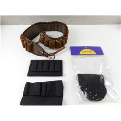 ASSORTED AMMO BELT AND HOLDERS