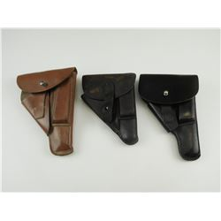 ASSORTED SMALL FRAME LEATHER SEMI-AUTO PISTOL HOLSTERS