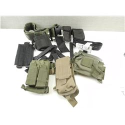 ASSORTED TACTICAL PISTOL AND RIFLE POUCHES