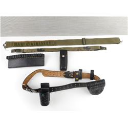 ASSORTED MAGAZINE AND AMMO BELTS