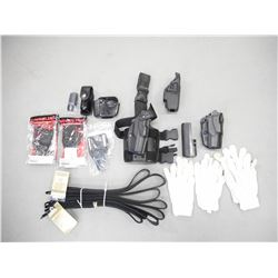 ASSORTED POLICE TYPE ACCESSORIES