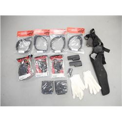 ASSORTED PISTOL HOLSTERS AND POUCHES