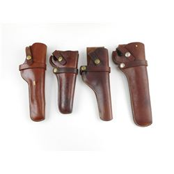 ASSORTED LEATHER HUNTER HOLSTERS