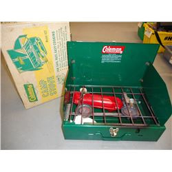 COLEMAN CAMP STOVE AND BOX