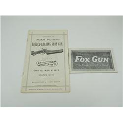 ASSORTED FOX GUN CATALOGUES