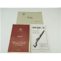 ASSORTED JOHN RIGBY CATALOGS