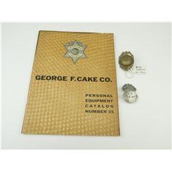 DEPUTY SHERIF POLICE BADGES AND CATALOG