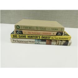 ASSORTED HUNTING AND FISHING BOOKS