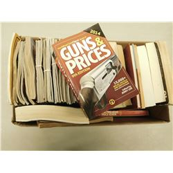 ASSORTED GUN AND HUNTING MAGAZINES AND BOOKS