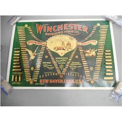 VINTAGE WINCHESTER REPEATING ARMS CO. ADVERTISING POSTER AND AMMUNITION JOURNAL