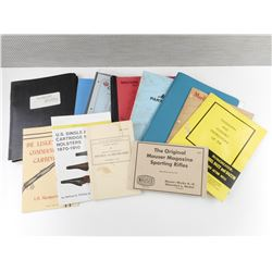 ASSORTED GUN PART CATALOGS AND PISTOL BOOKLETS
