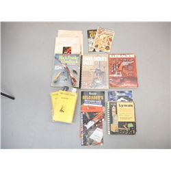 ASSORTED GUN POWDER AND RELOADING BOOKS