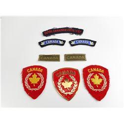 ASSORTED CANADIAN CLOTH BADGES