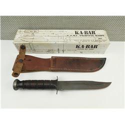 KA-BAR U.S.M.C FIGHTING KNIFE WITH SHEATH AND BOX