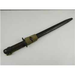 WWII AUSTRAILIAN P1907 BAYONET WITH SCABBARD AND FROG